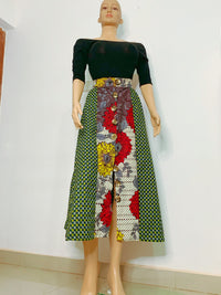ANKARA SKIRT- GREENS