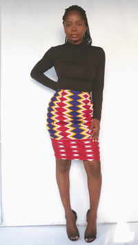 Kente pencil skirt- BAAFI