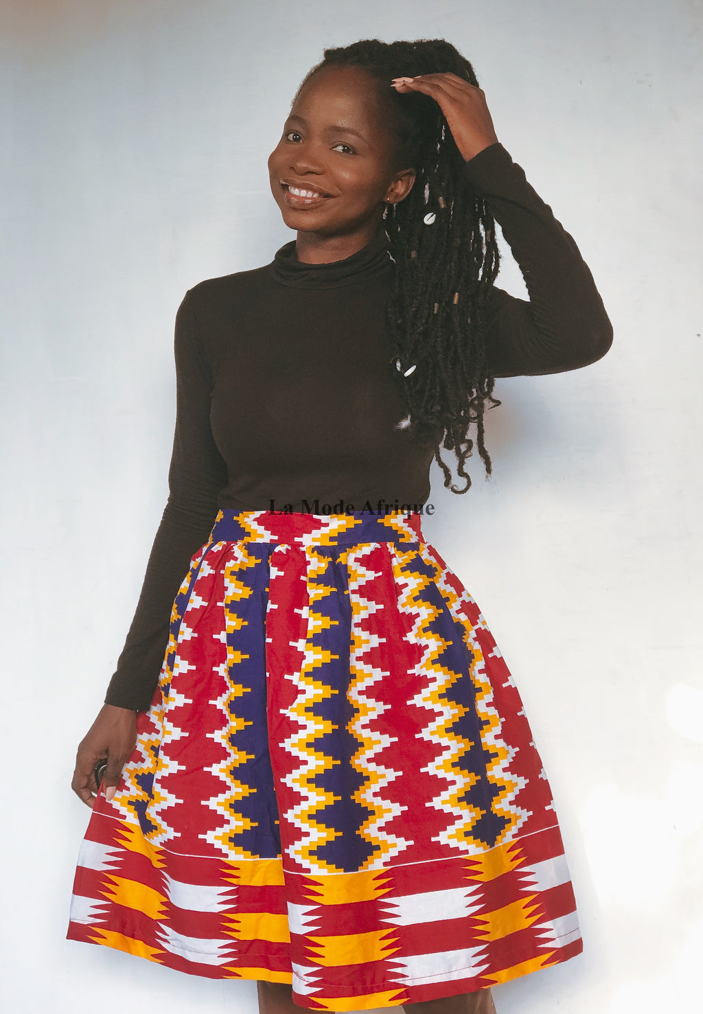 Kente Gathered  Skirt- DUFIE