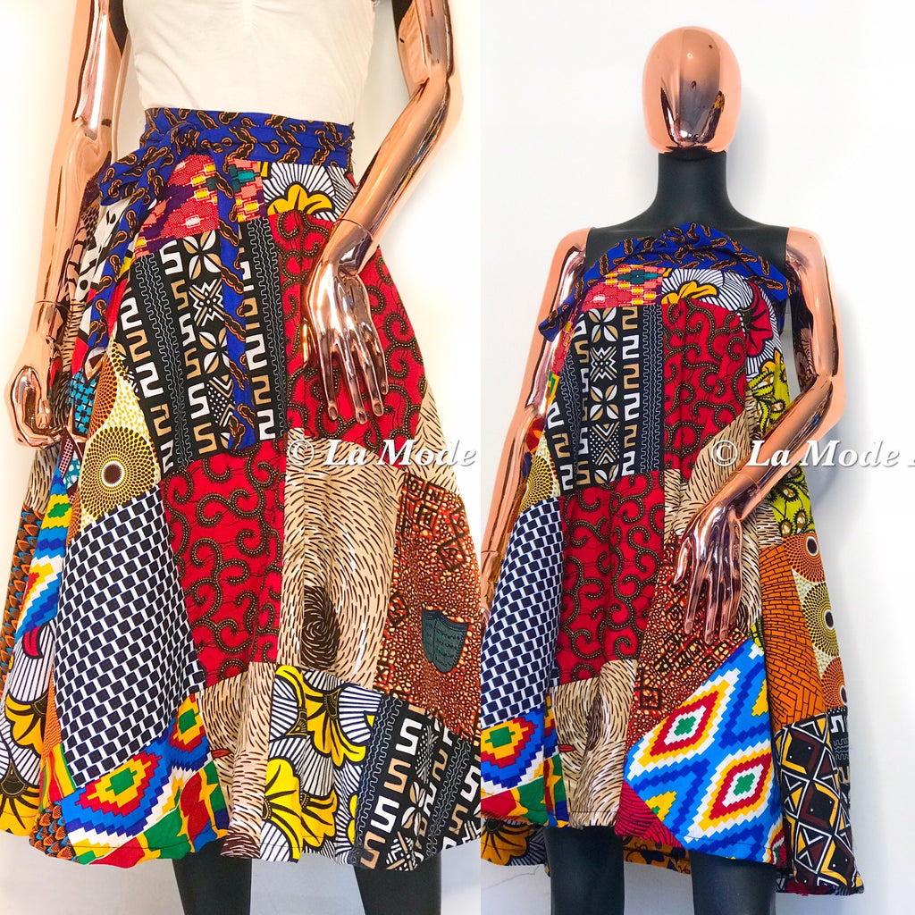 Ankara patchy multi purpose piece