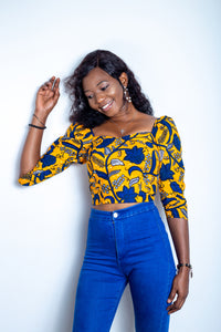 Ankara crop top- Doris