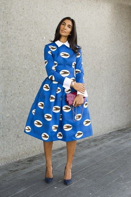 BLUE IVY MIDI DRESS