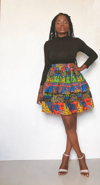 Patchy double layer skirt - NANA
