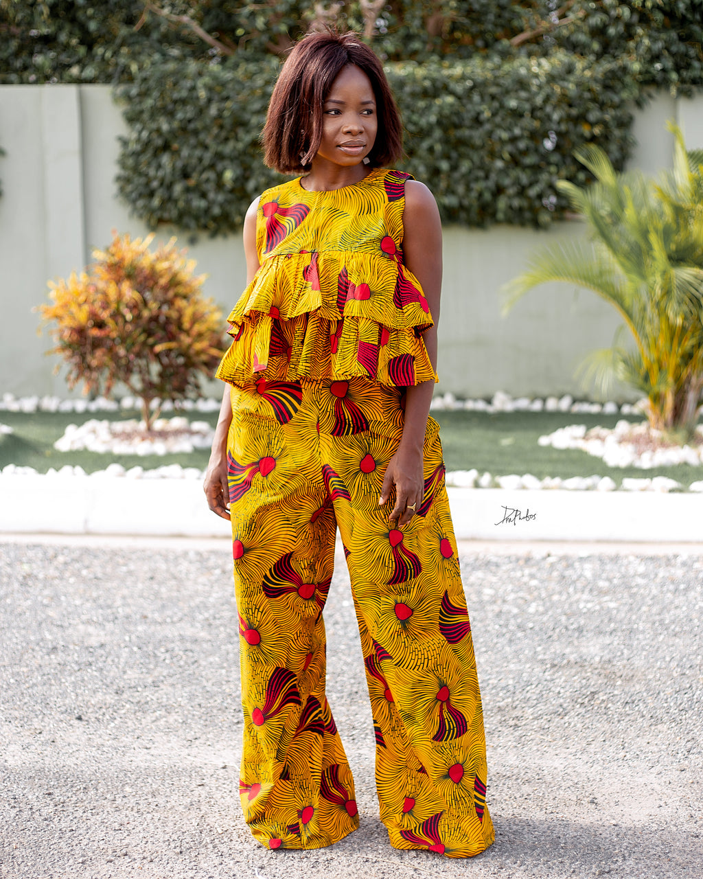 2 pieces- Ankara ladies outfit- LINA