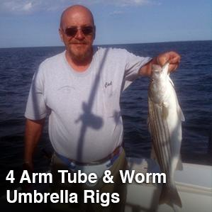 4 Arm Tube & Worm Umbrella Rigs