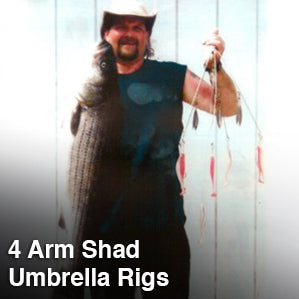 4 Arm Shad Umbrella Rigs