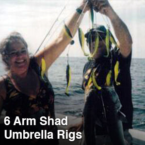 6 Arm Shad Umbrella Rigs