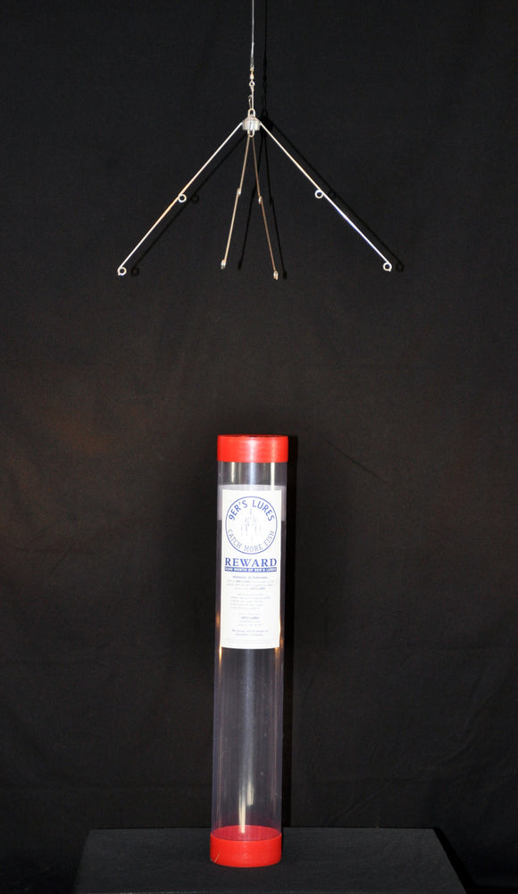Clear Tube with 4 Arm Bent Frame with Split Rings