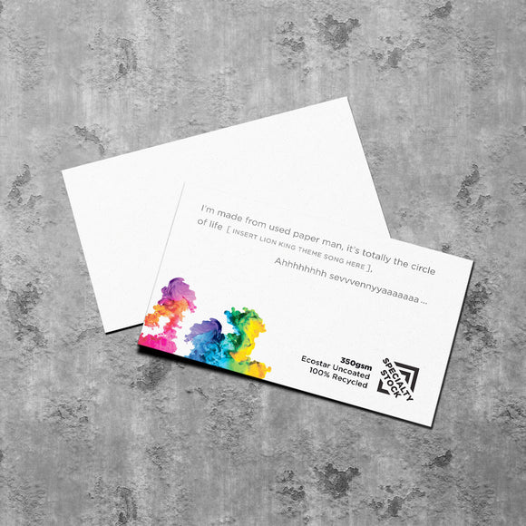 Better Business Cards ~ 100% Recycled Ecostar Business Cards