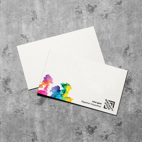 Business Cards ~ Eggshell Off-white Textured - Better Business Cards