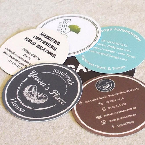 Round business cards free artwork setup better business cards round business cards circular cards die cut better business cards colourmoves