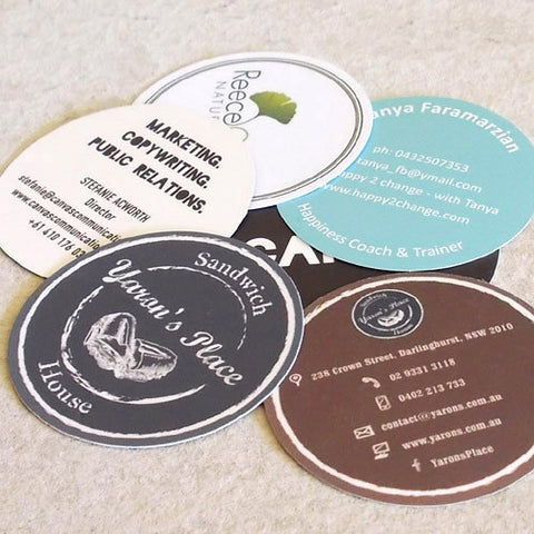 Round Business Cards ~ Circular Cards Die-cut - Better Business Cards