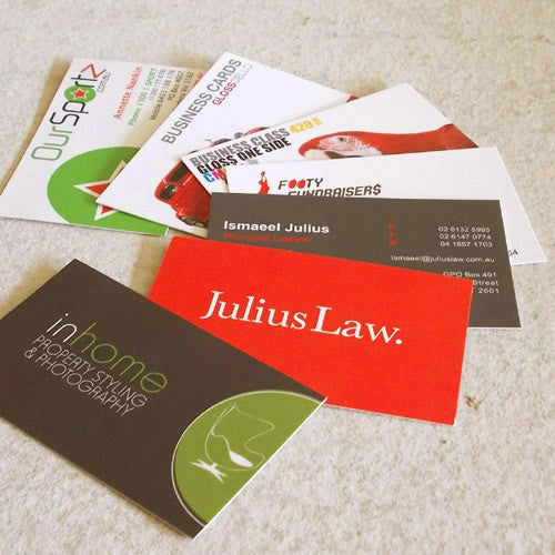 Business Cards ~ Standard 310gsm Artboard + Celloglaze Gloss/Matt - Better Business Cards