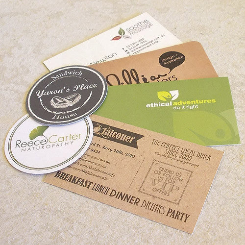uncoated white recycled business cards