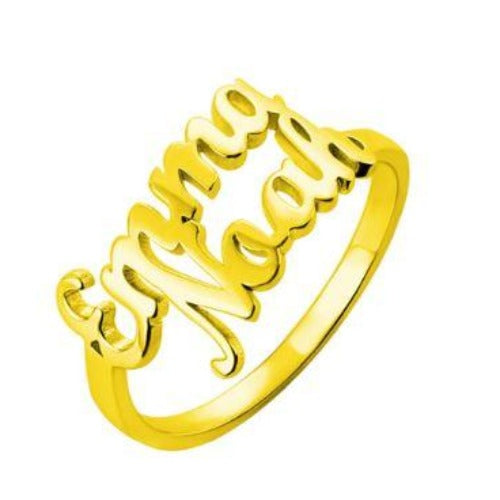 TrulyCraved Double Name Ring