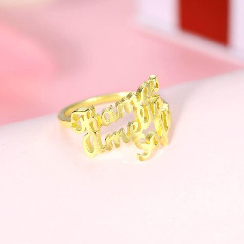 TrulyCraved Triple  Name Ring