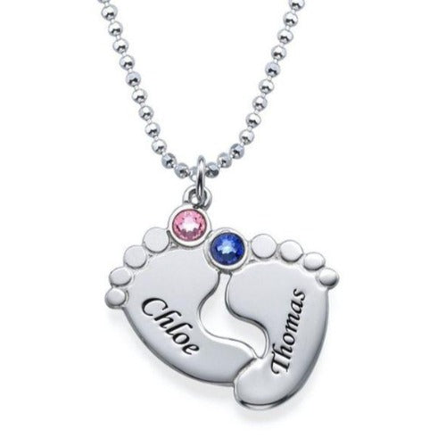 TrulyCraved Baby Foot Necklace