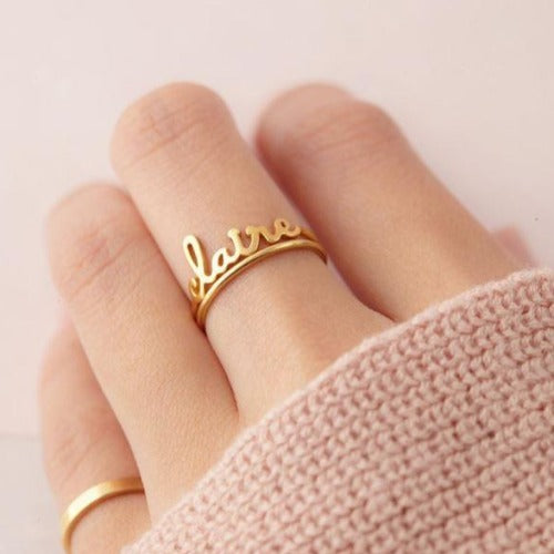 TrulyCraved Classic Name Ring