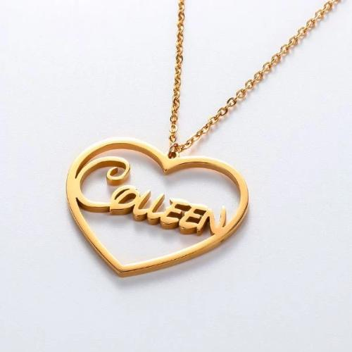TrulyCraved Classic Heart Name Necklace