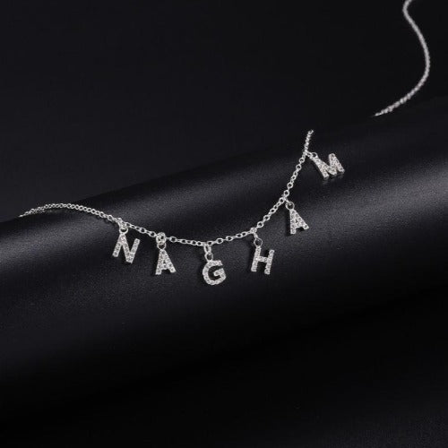 TrulyCraved Diamond Individual Letters Name Necklace