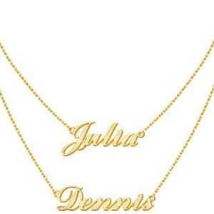 TrulyCraved Double Chain Name Necklace