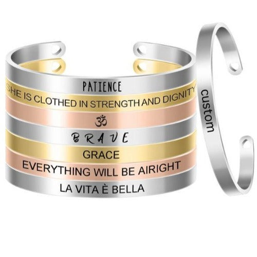 TrulyCraved Engraved Bangle