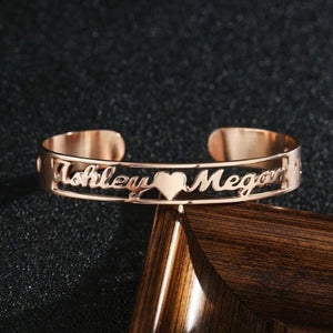 TrulyCraved Hollow Name Bangle