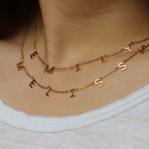 TrulyCraved Individual Letters Name Necklace