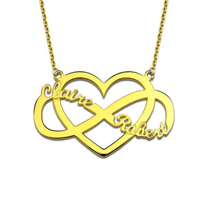 TrulyCraved Infinity Heart Name Necklace