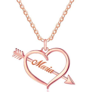 TrulyCraved Cupid Heart Name Necklace