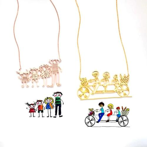 TrulyCraved Outlined Artwork Necklace