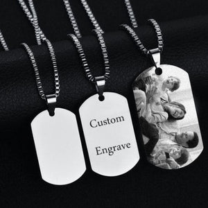 TrulyCraved Photo or Name Plate Necklace