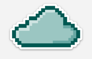 Pixelated HelpCloud Sticker