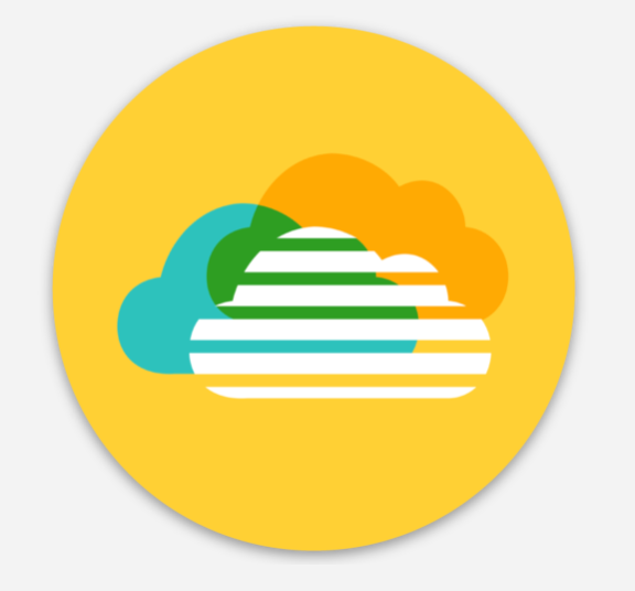 Retro HelpCloud Sticker - yellow