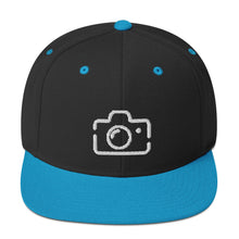 "Load image into Gallery viewer, ""Camera"" Snapback Hat"