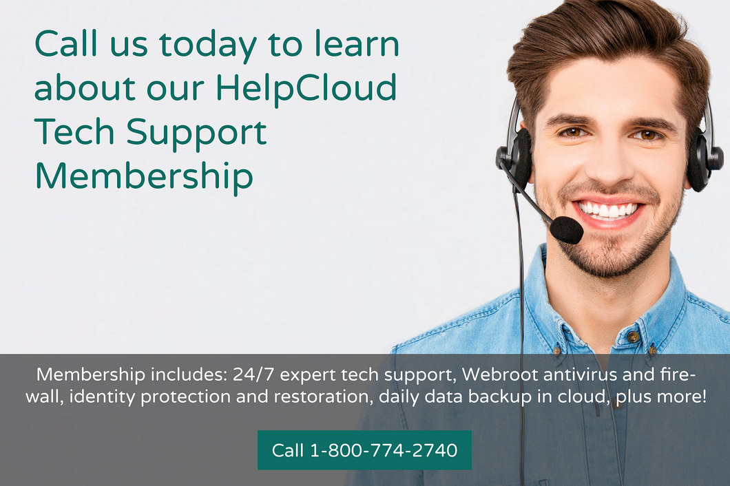 HelpCloud Tech Support Membership ($29.97/month)