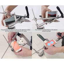 Load image into Gallery viewer, Pro Knife™ Sharpener With 4 Whetstones