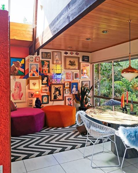 A spectacular gallery wall in the home of Evie Kemp