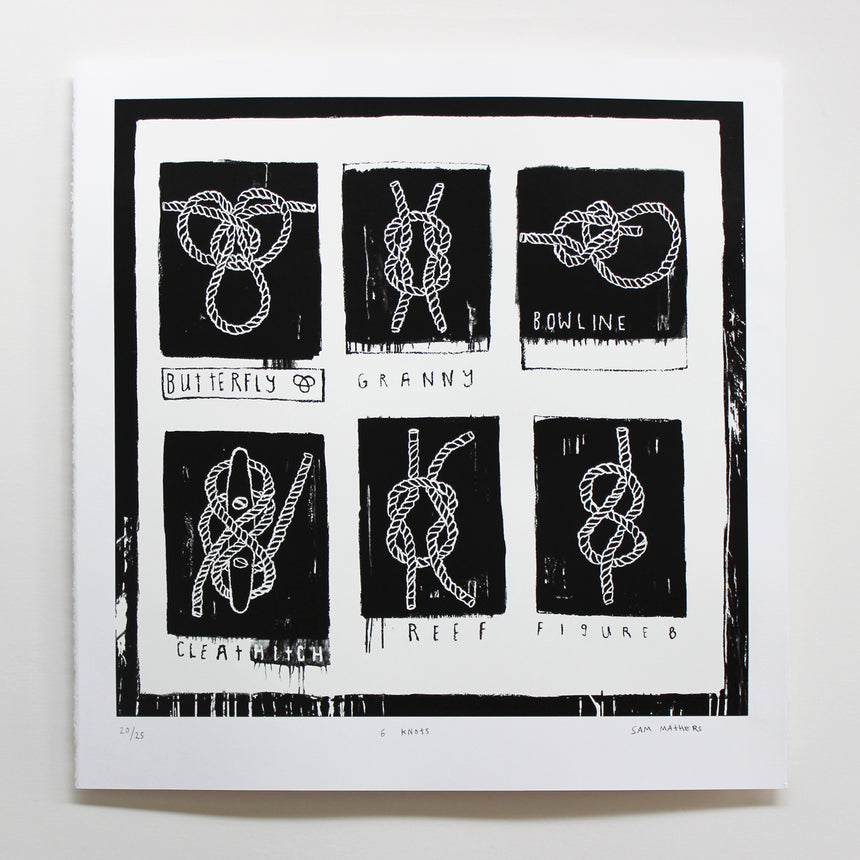 Sam Mathers '6 Knots' Limited Edition Screenprint
