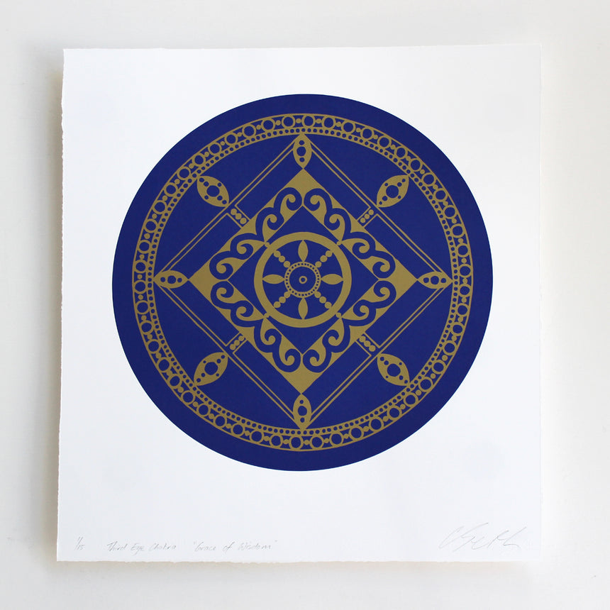 Chakra Third Eye ( Dark Blue)