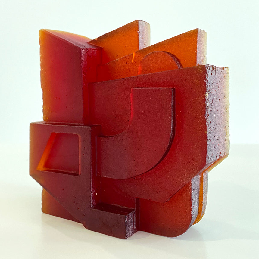 Solv No.4 Cast Glass Dark Orange