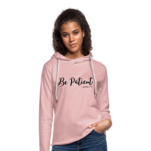 Be Patient Roll Cuff Tee - cream heather pink