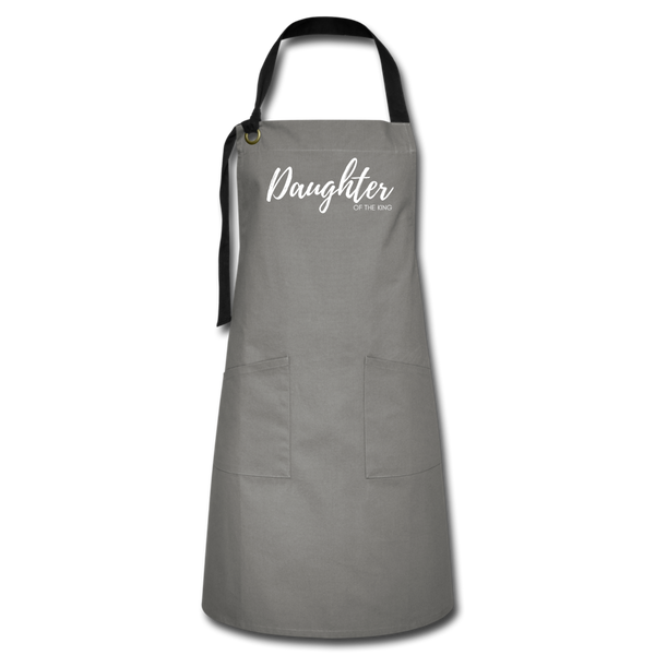 Daughter of The King Premium Apron - gray/black