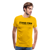Men's Stand Firm Premium Shirt - sun yellow