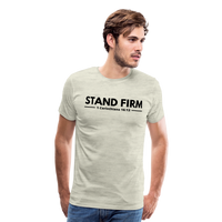 Men's Stand Firm Premium Shirt - heather oatmeal