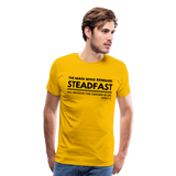 Men's Steadfast Premium Shirt - sun yellow