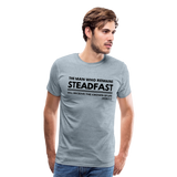 Men's Steadfast Premium Shirt - heather ice blue