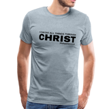 Men's All Things Through Christ Premium Shirt - heather ice blue