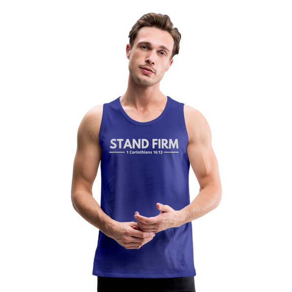 Men's Stand Firm Tank - royal blue