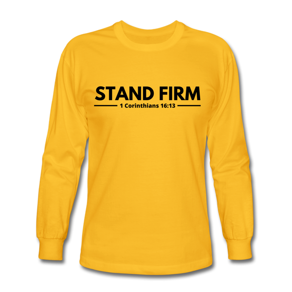 Men's Stand Firm Long Sleeve Tee - gold